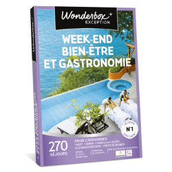 Wonderbox  WEEK END BIEN ETRE & GASTRONOMIE